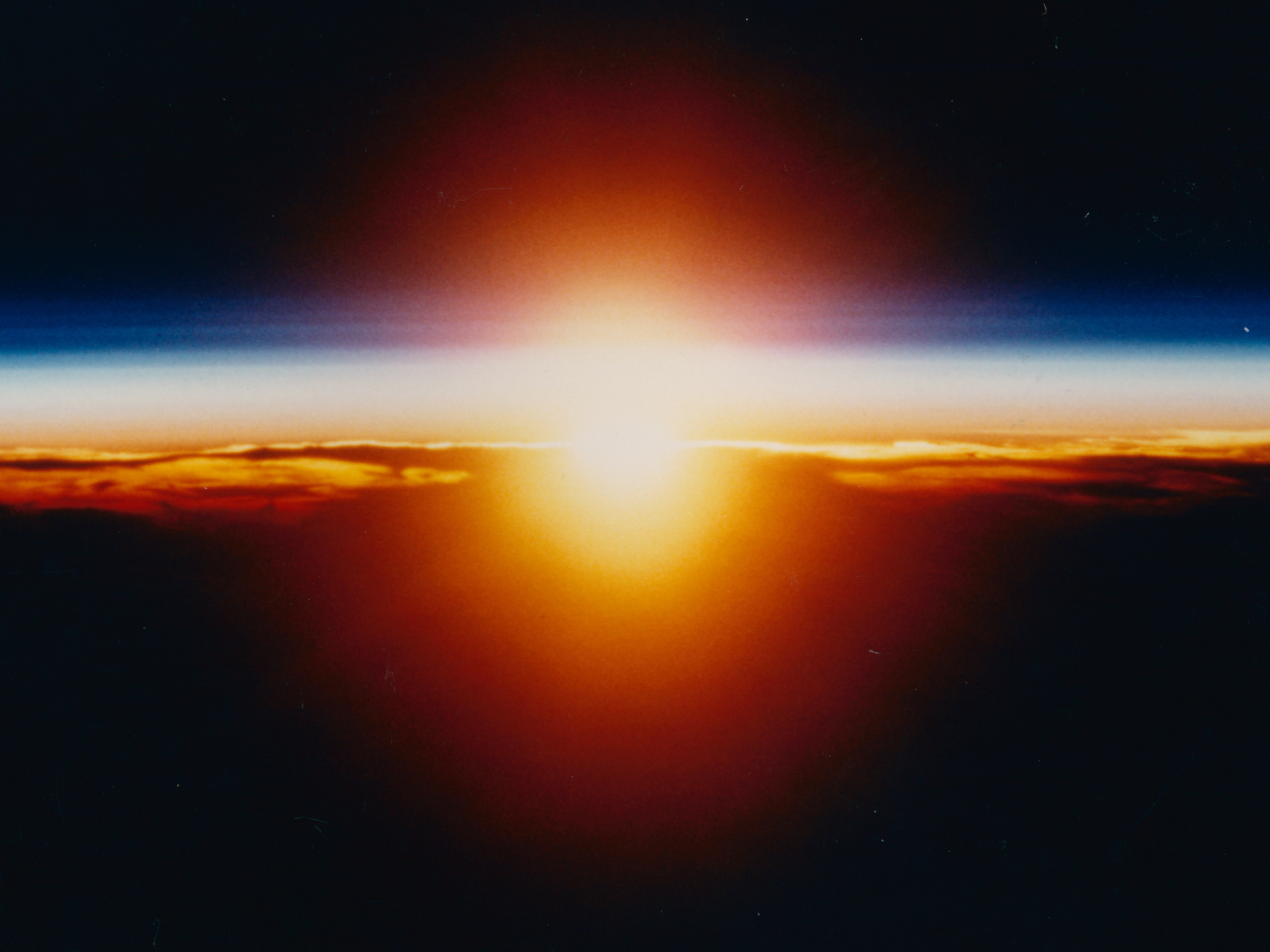 Sunrise from orbit.