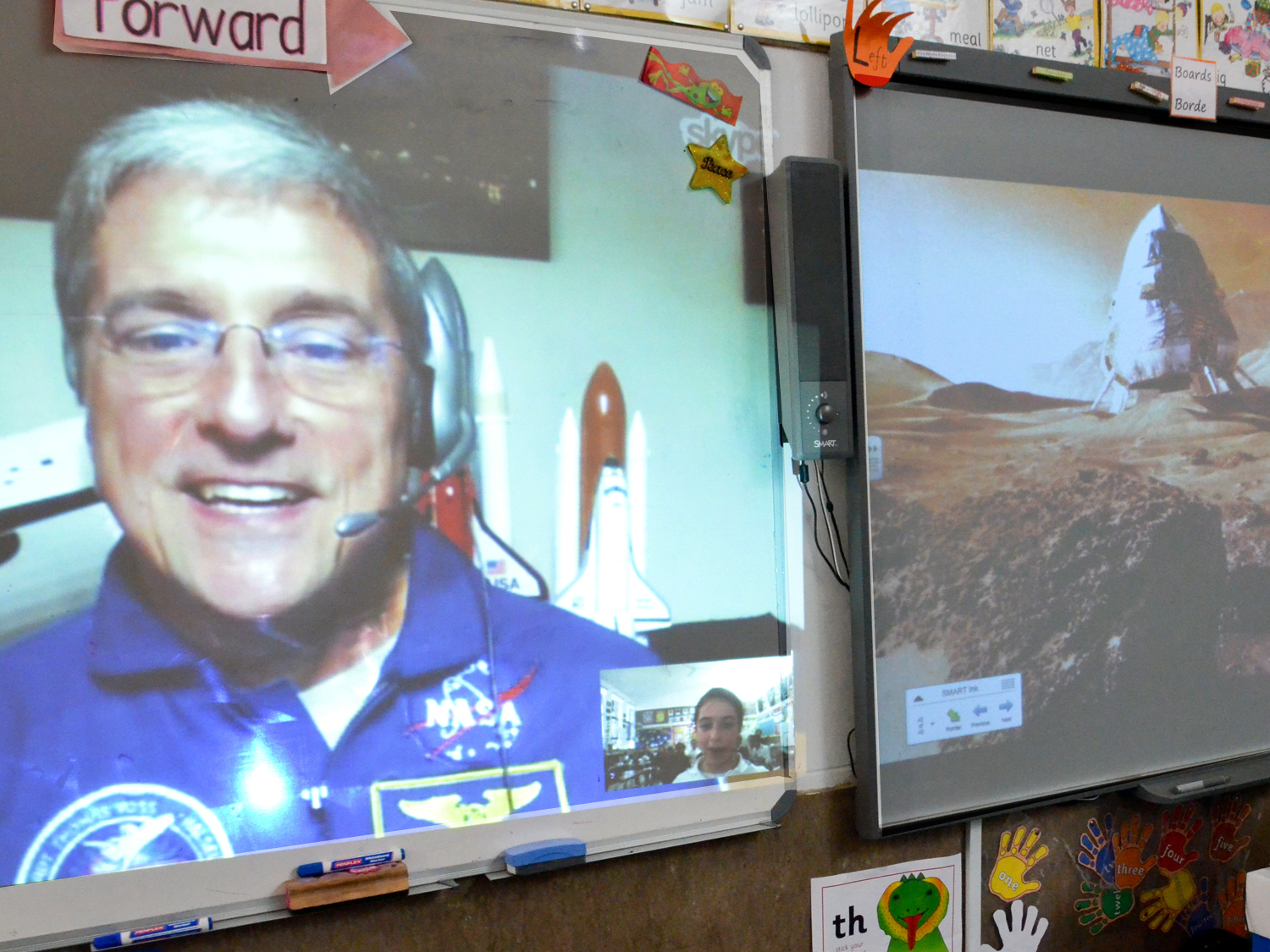 Virtual classroom visit in Cape Town, South Africa (photo by Steve Sherman / Living Maths)