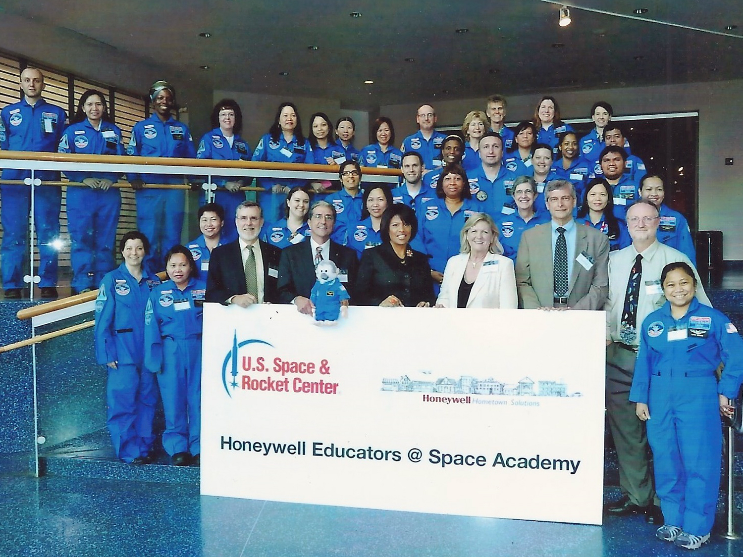 Meeting teachers participating in Honeywell's Educators @ Space Academy program.