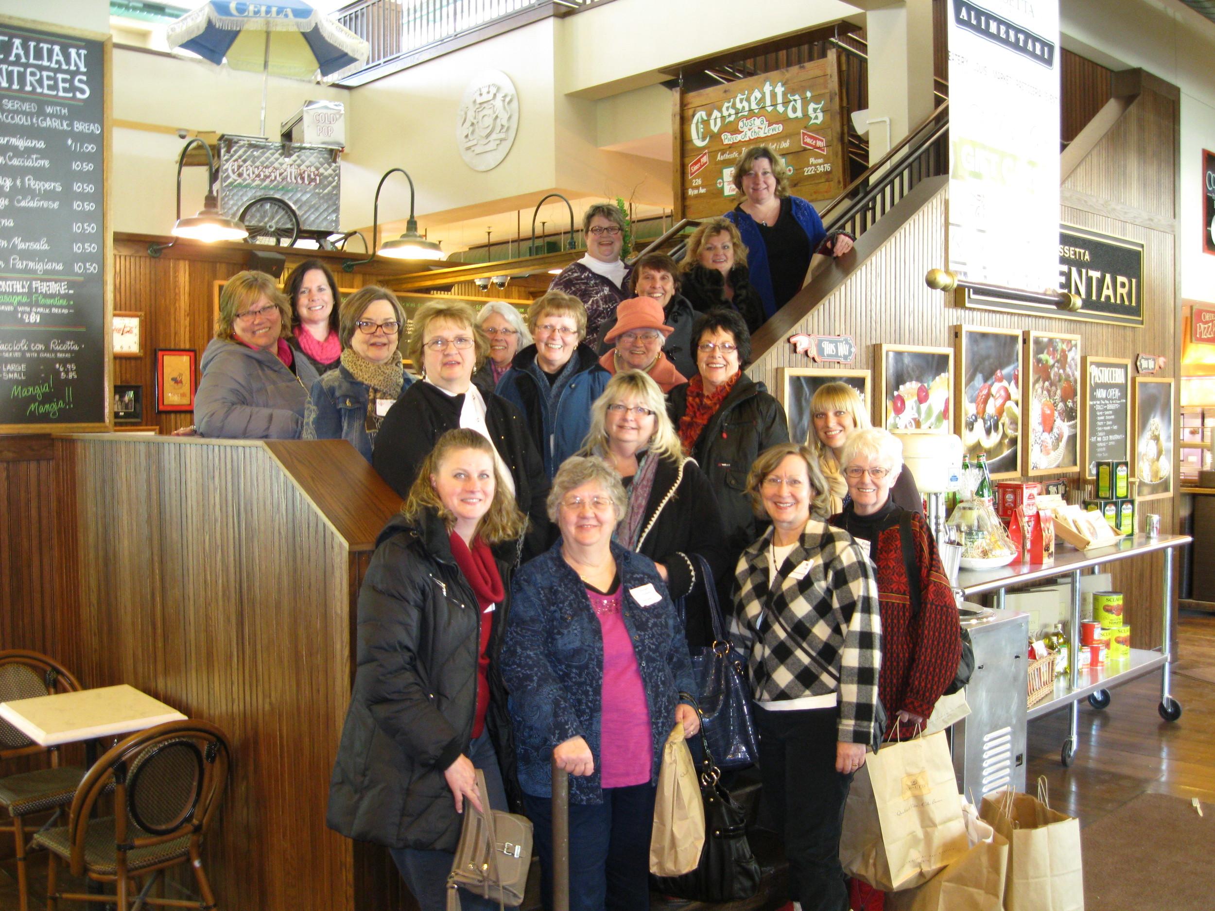 Excursion Participants enjoy lunch at Cossetta's in downtown Saint Paul.