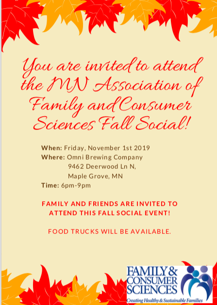 We'd love to see you at our fall social gathering!