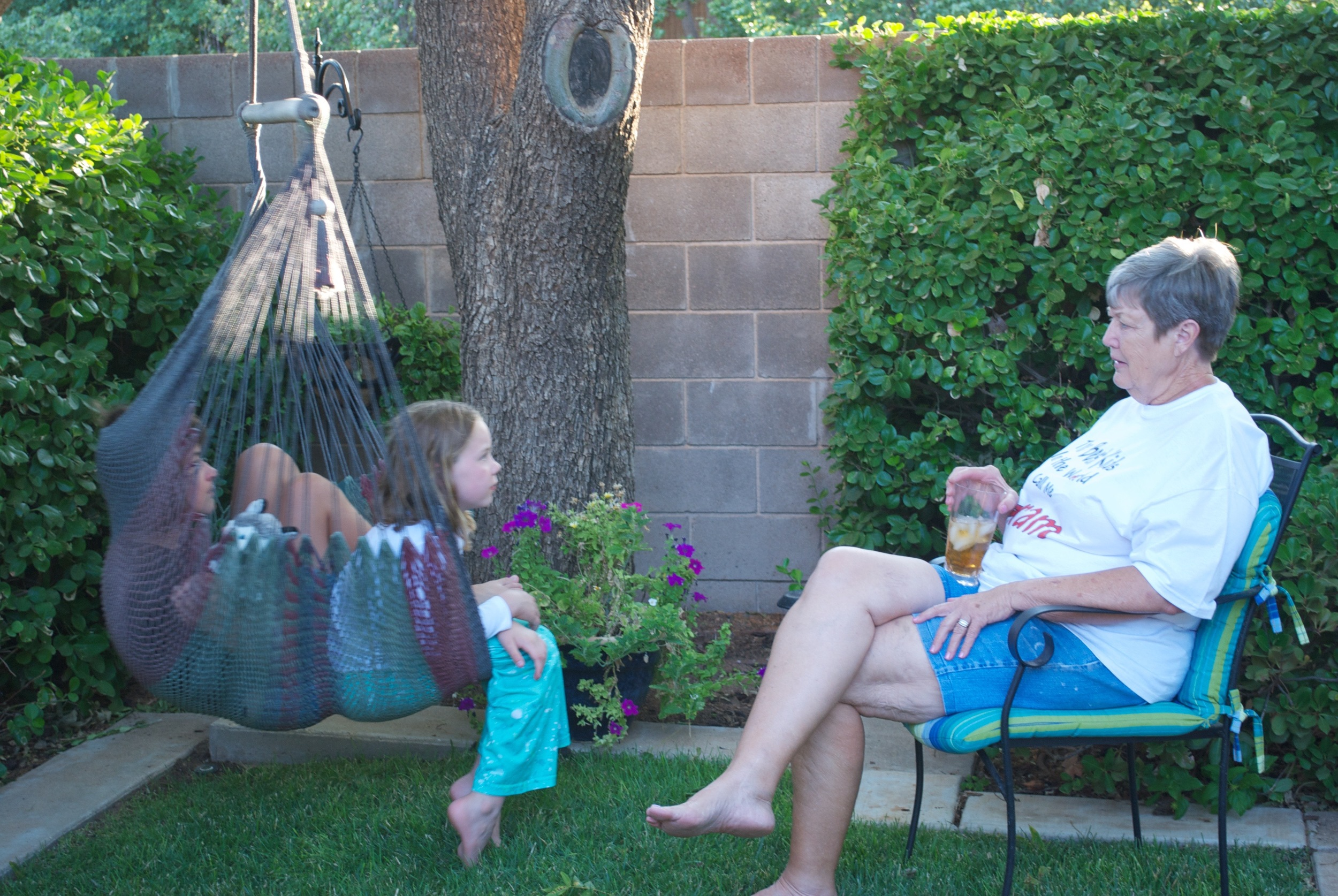 Mom with a couple of grandkids, 2011.