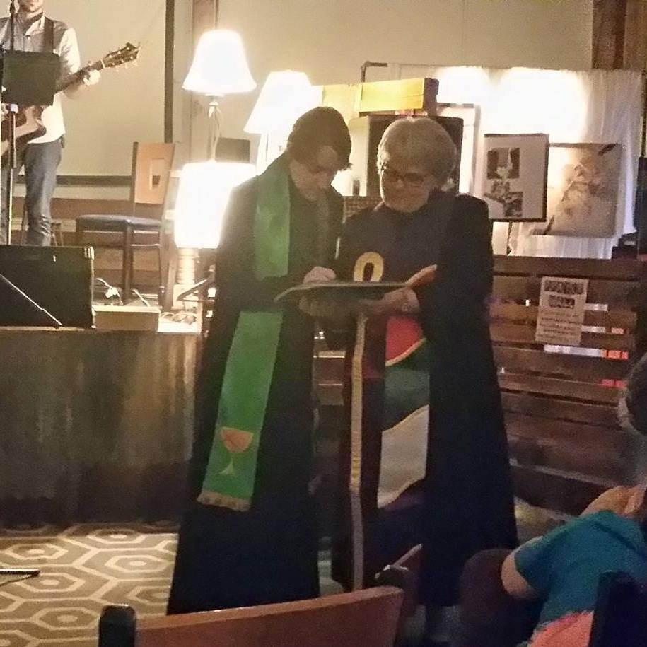 Rev. Nicole McRaney with Rev. Coretha Loughridge of the Southwest Region of the Christian Church (Disciples of Christ).