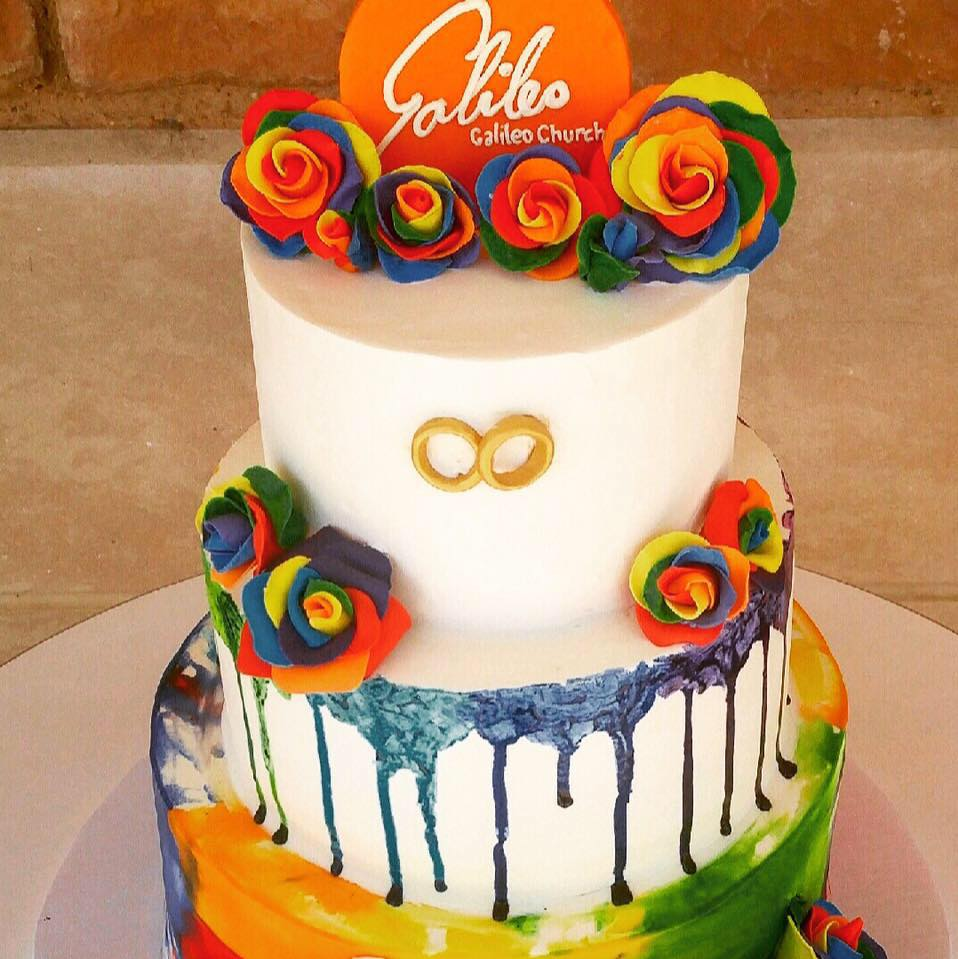 What better way to celebrate the 1-year anniversary of Obergefell v. Hodges than a Galileo wedding cake?
