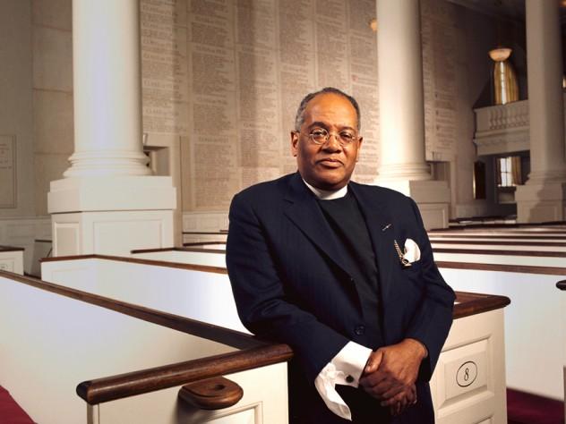Peter J. Gomes, at Harvard Memorial Chapel.