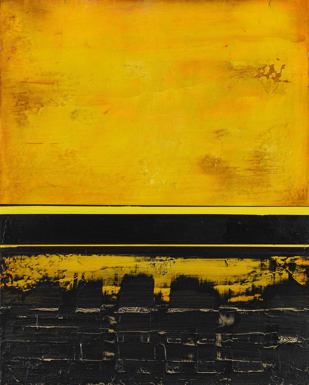 "Nola Zirin  Saffron Sky, 2012 Oil and wax on panel 20"" x 16"" Retail Value: $3,000 Opening Bid: $1,000"