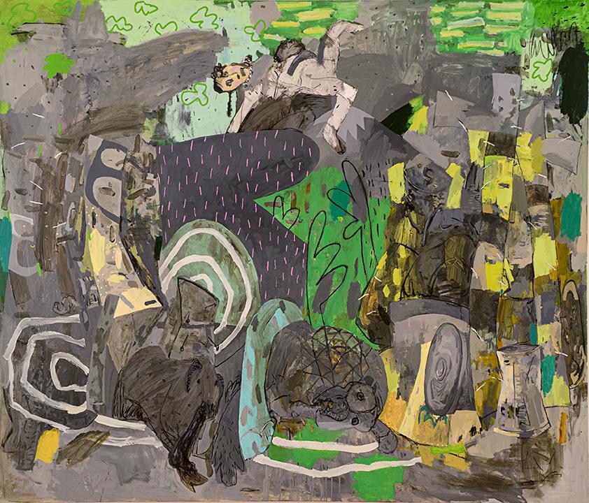 "Vegetaciones, 2013 Oil on canvas, 72"" x 84"""