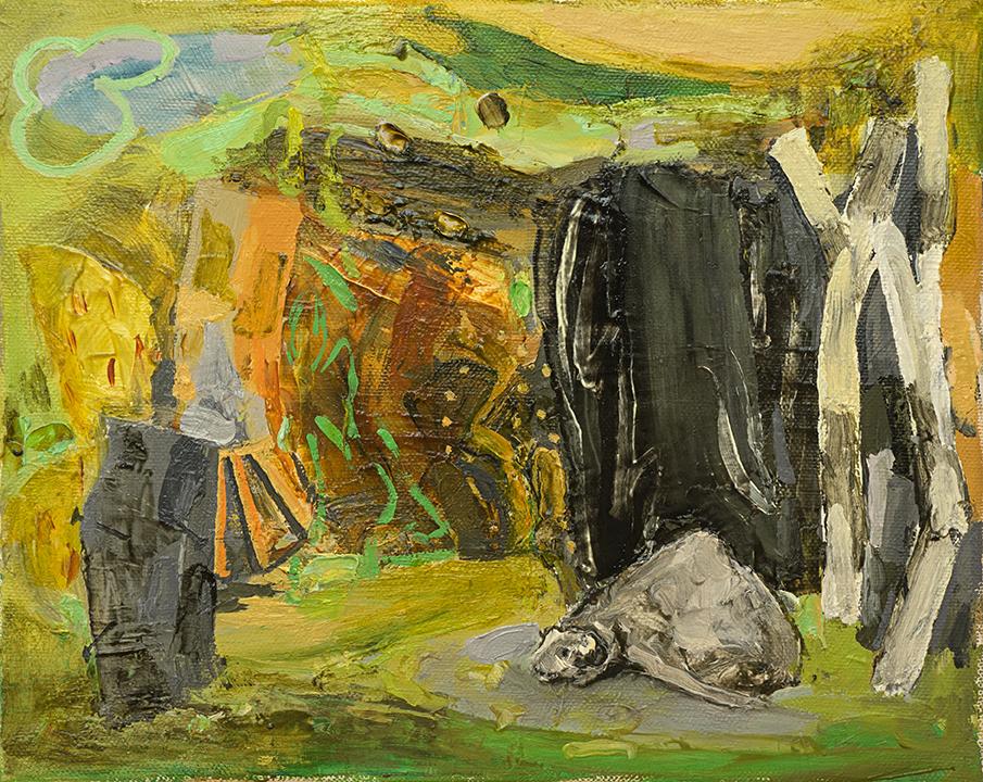 """Study for Algunas bestias , 2012 Oil on canvas, 8"""" x 10"""""""