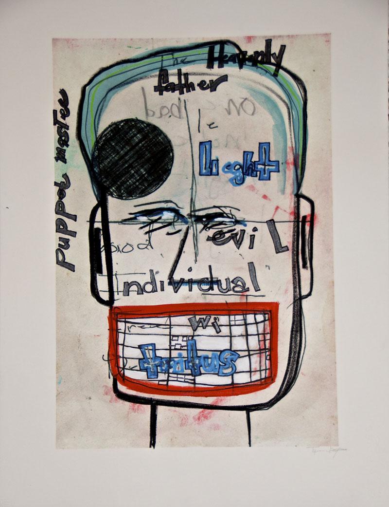 "Untitled, 2012 Swiss monoprint, 30"" x 22"""