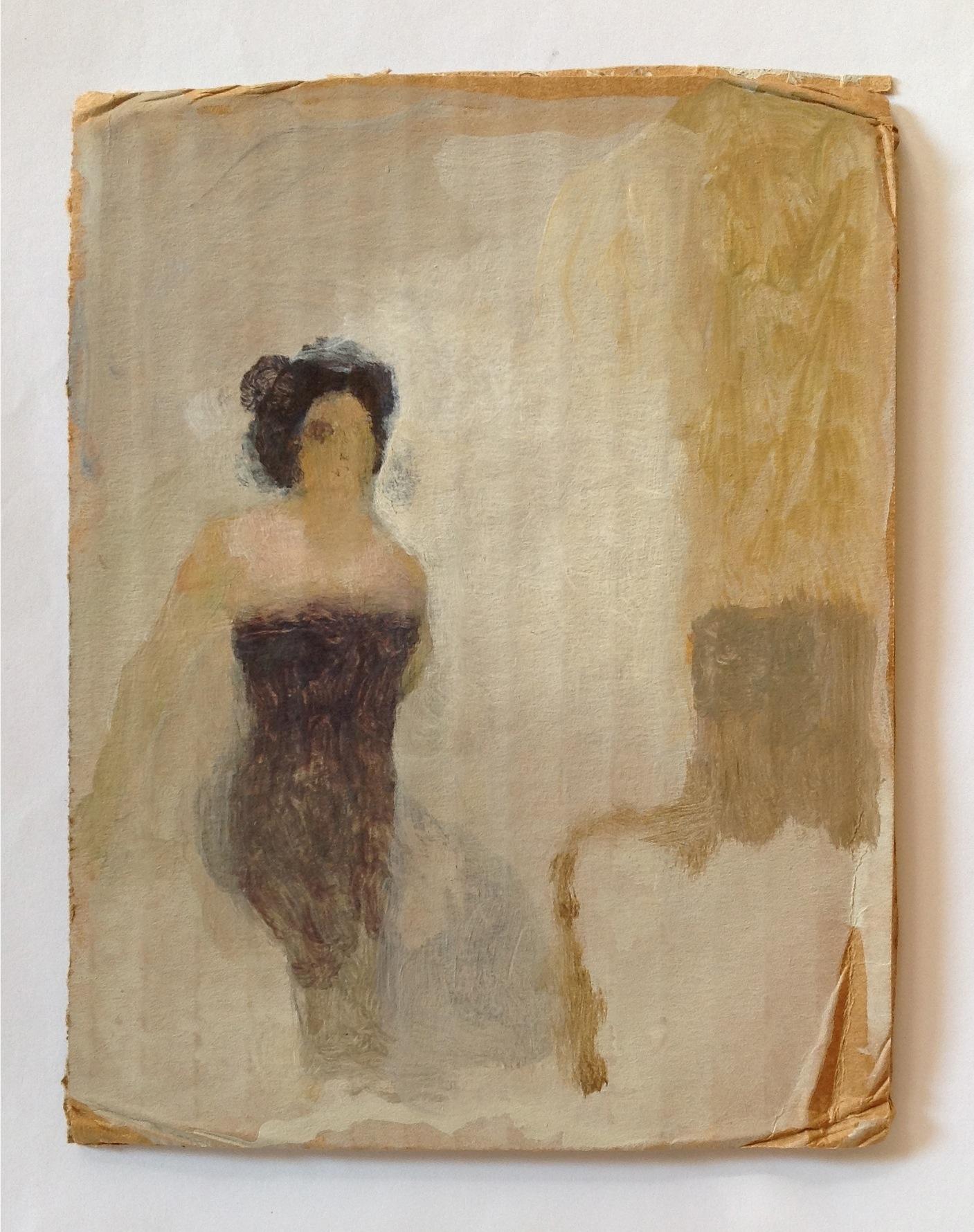 "Anthony Dubovsky  Alicia,  2006 Acrylic on cardboard 6 5/8"" x 5"" Retail Value: $2500 Opening Bid: $950"