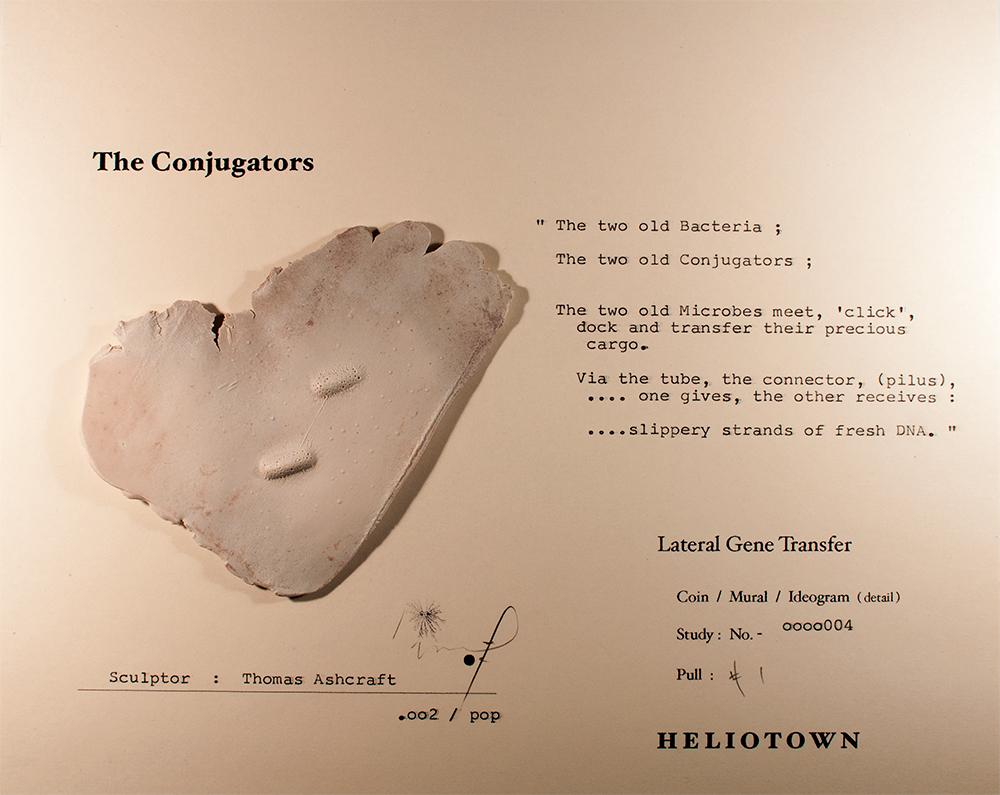 "Thomas Ashcraft  The Conjugators (Ideogram Study),  2013 Mixed media 8"" x 10"" framed Retail Value: $2700 Opening Bid: $700"
