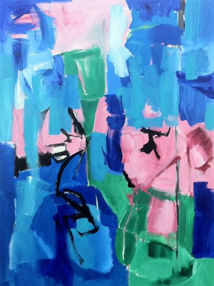 "Cheryl Roy Starer  Untitled, 2013 Acrylic on canvas 48"" x 36"" Retail Value: $6000 Opening Bid: $3000"