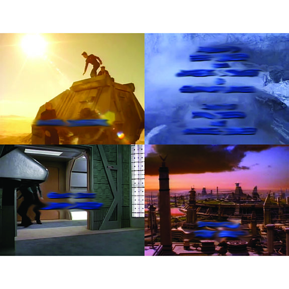 Blue Clouds   (selections from series), 2012   Final Mission, Power Play, The Enemy, Unification Part II 2   Screencaps with blurred credits