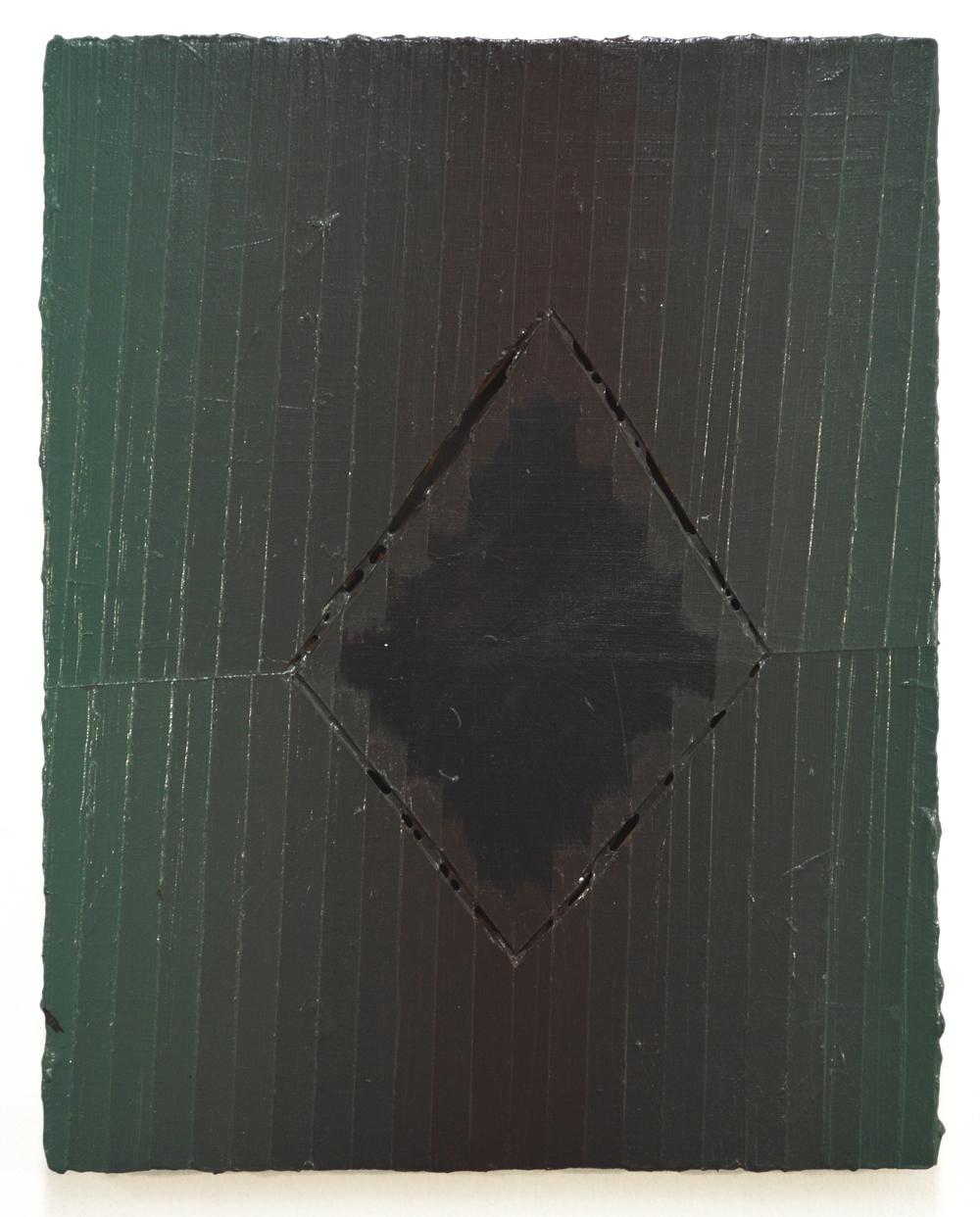 "Rafael Vega   Untitled,  2014   Acrylic on hardboard   14"" x 11""   Retail Value: $1,800   Opening Bid: $900"