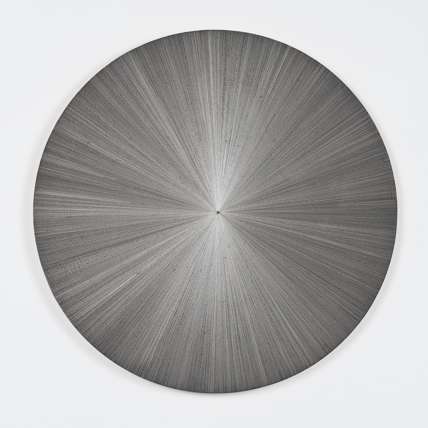 """SIGNATURE PIECE  Michelle Grabner   Untitled  ,  2014  Silverpoint on panel  Courtesy of the artist and James Cohan Gallery   50"""" diameter   Retail Value: $21,000   Opening Bid: $12,000"""