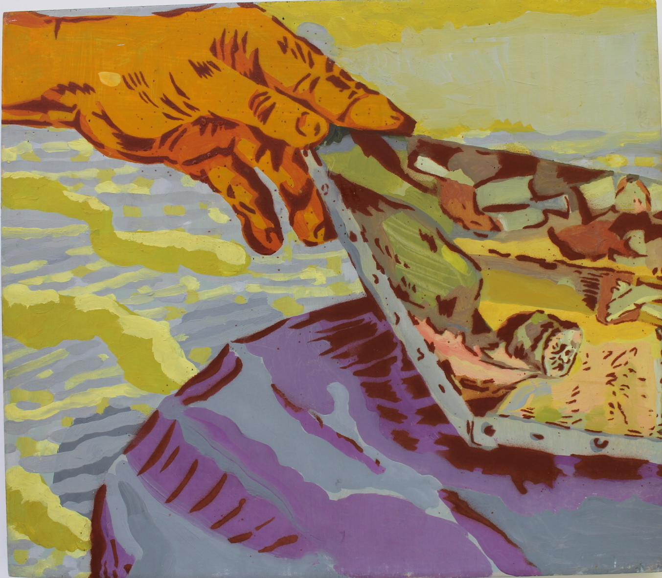 "Dennis Congdon  Maestro,  2012   Oil and enamel on birch panel   12"" x 14""   Retail Value: $500   Opening Bid: $200"