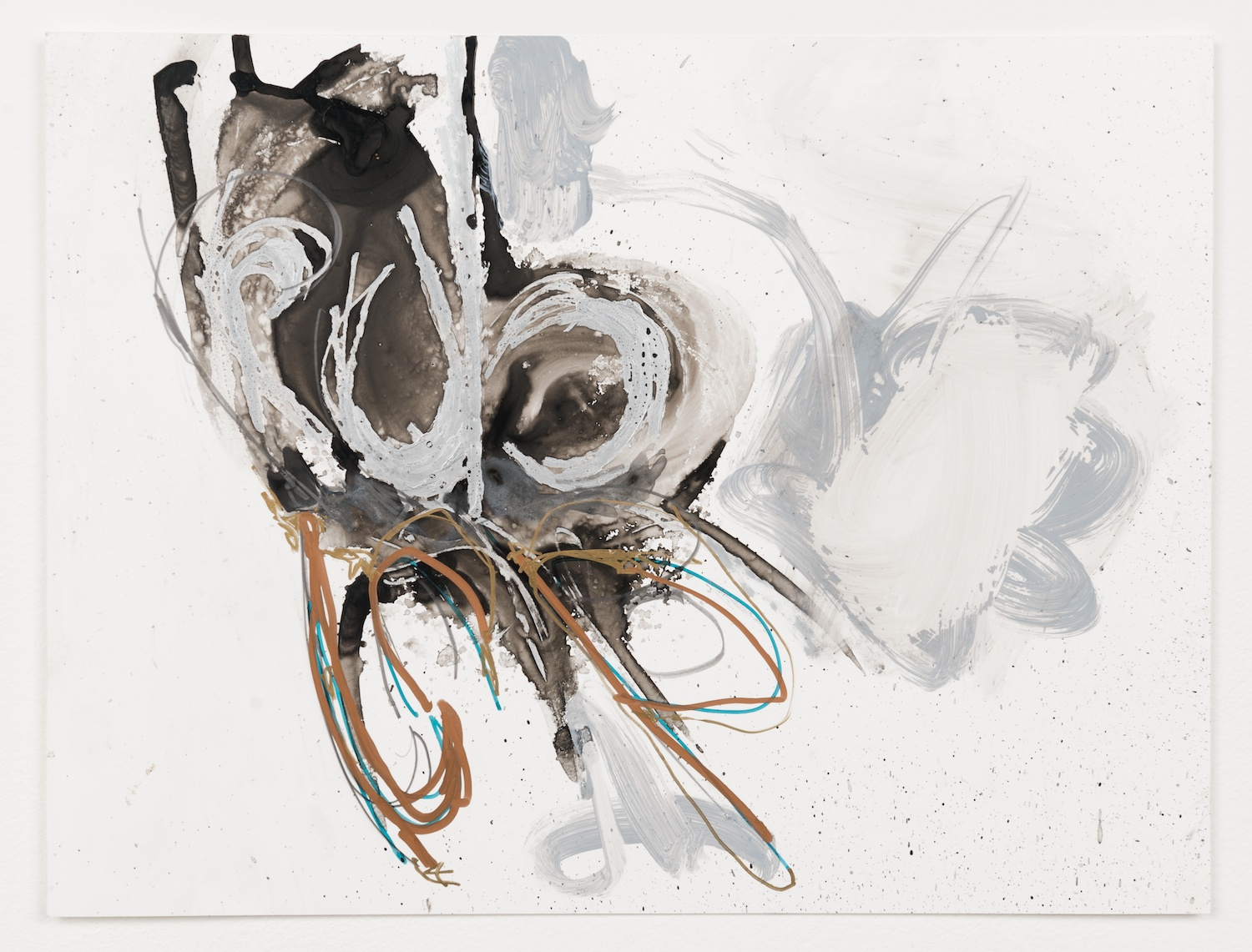 """Suzanne McClelland  Rub  , 2013  Courtesy of the artist; Shane Campbell Gallery, Chicago; Team Gallery, New York Ink, graphite, and paint marker on YUPO  9"""" x 12""""   Retail Value: $2,000   Opening Bid: $1,000"""