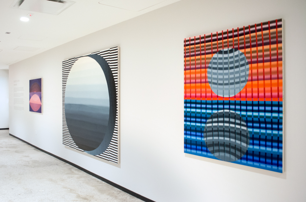 Installation view of Beverly Acha,  Interlude  at Aon.