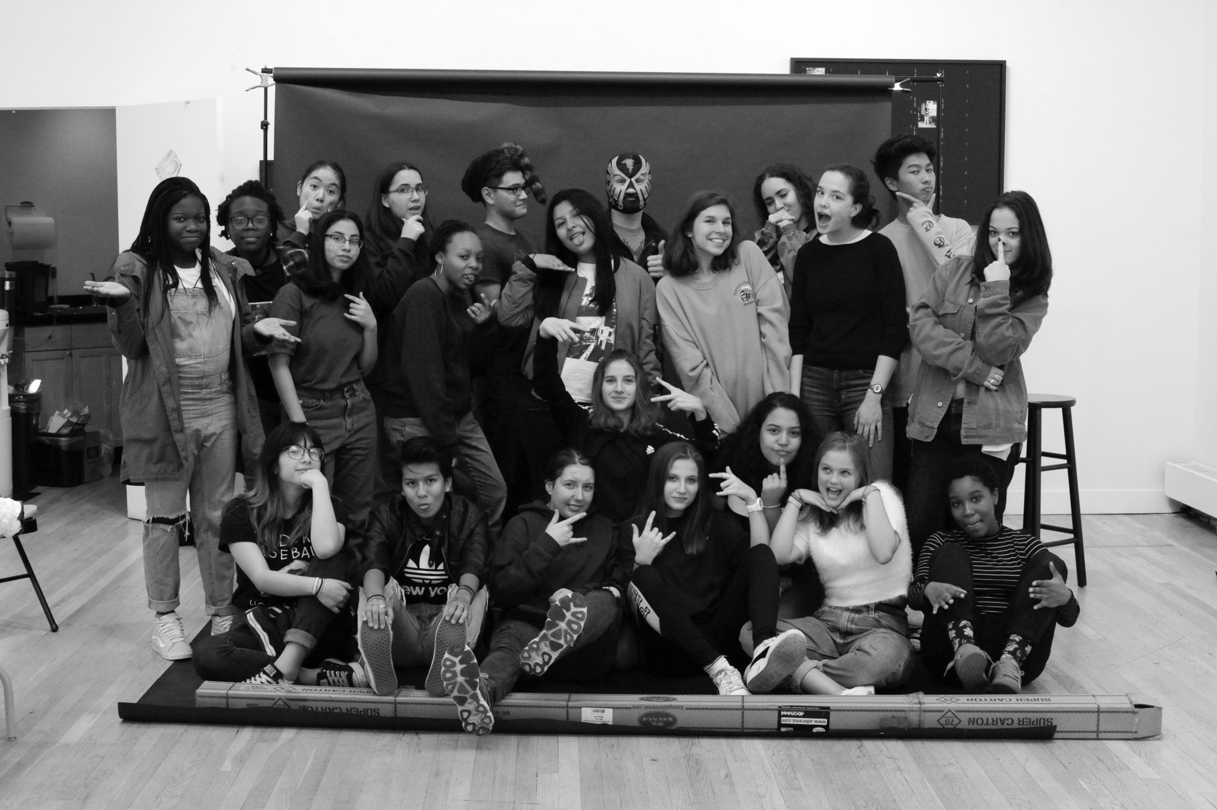 The CUE Teen Collective class of 2017-18. Photo by Nancy Floyd.