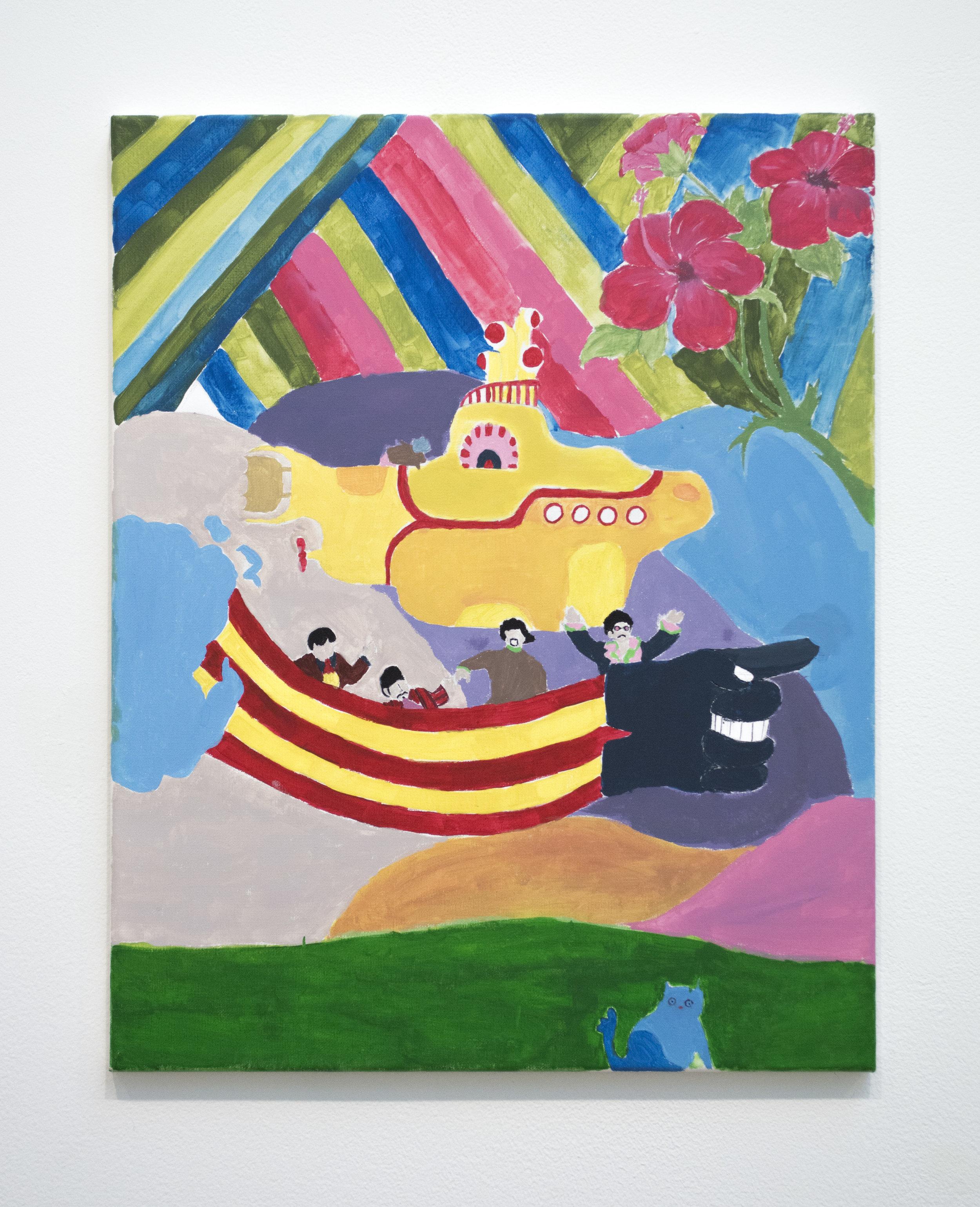 Angelica Ruano  Brillas , 2018 Acrylic on canvas