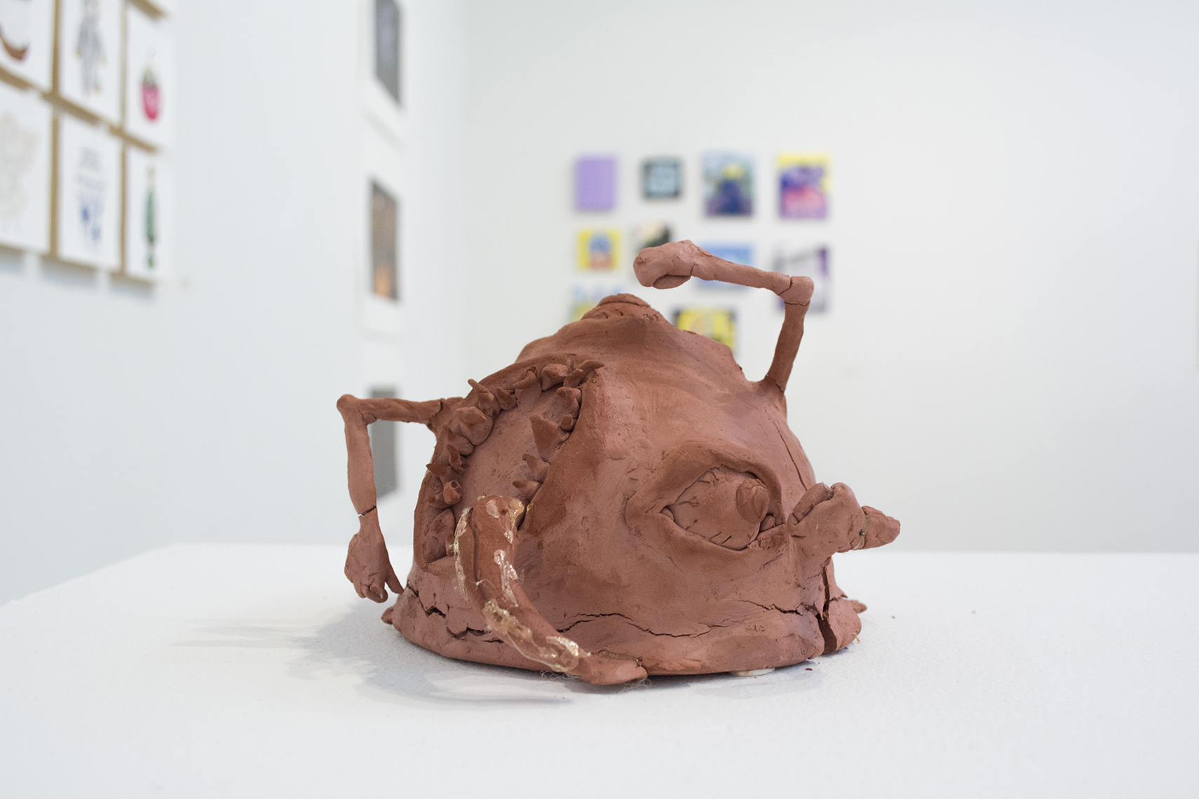 Benjamin Ciufo  Home , 2018 Clay sculptures