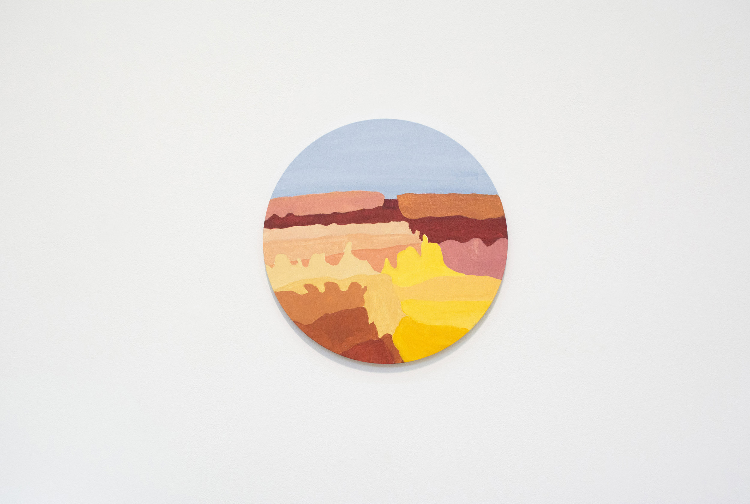 Miriam Entin-Bell  Portal , 2018 Acrylic on canvas and sound recording