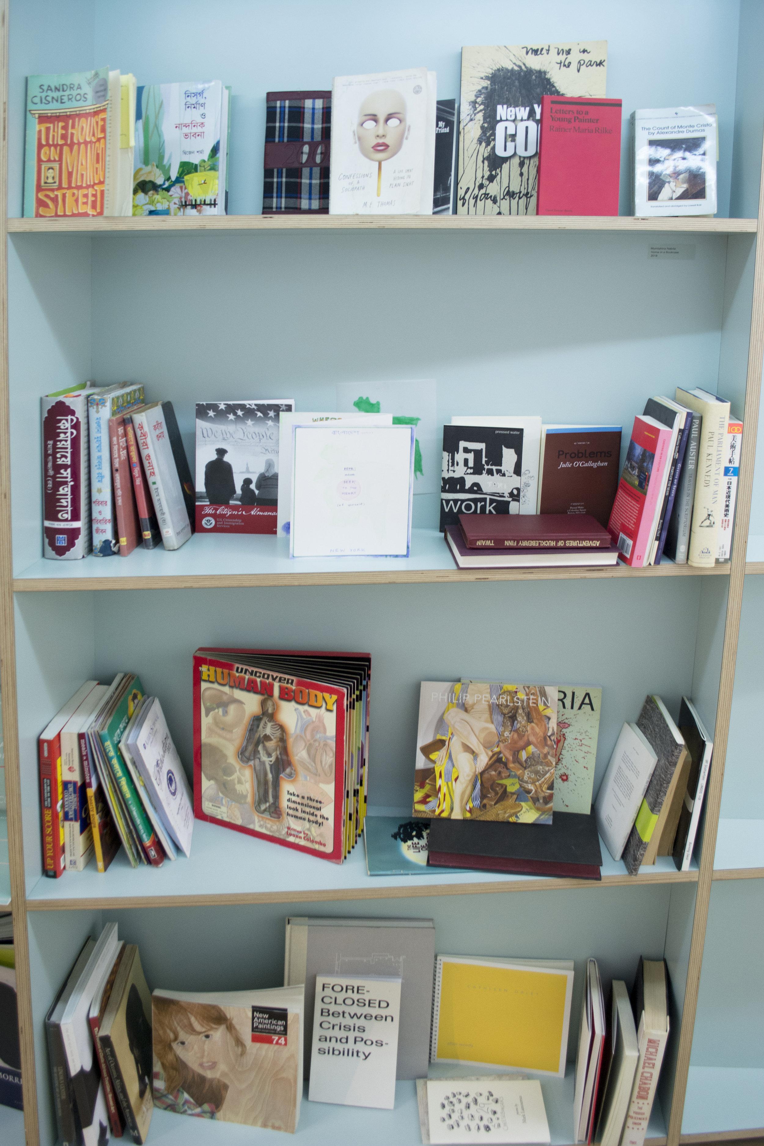 Mumtahina Nabila  Home in a Bookcase , 2018 Multi-media installation