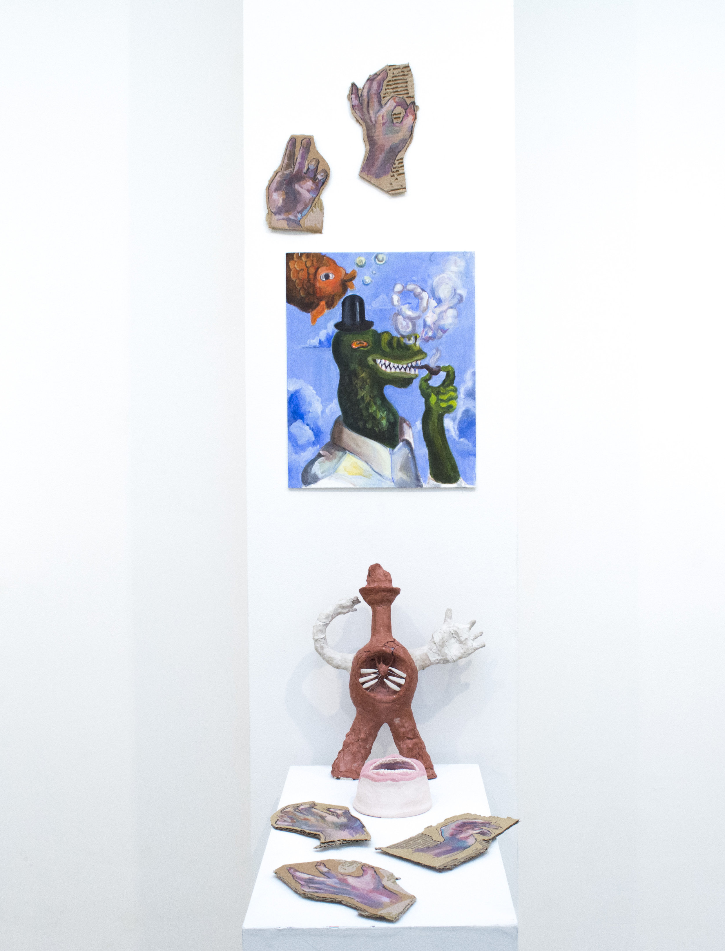 Xuduan You  Untitled , 2018 Painting and sculpture