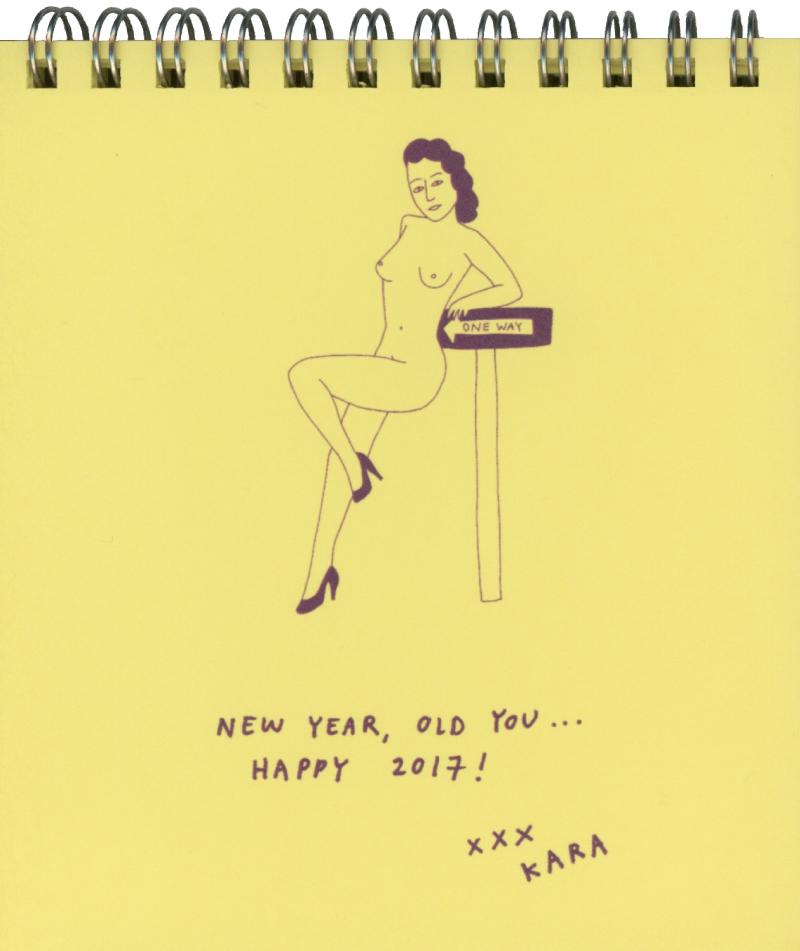 12 illustrations for a custom pinup calendar for handbag brand Kara