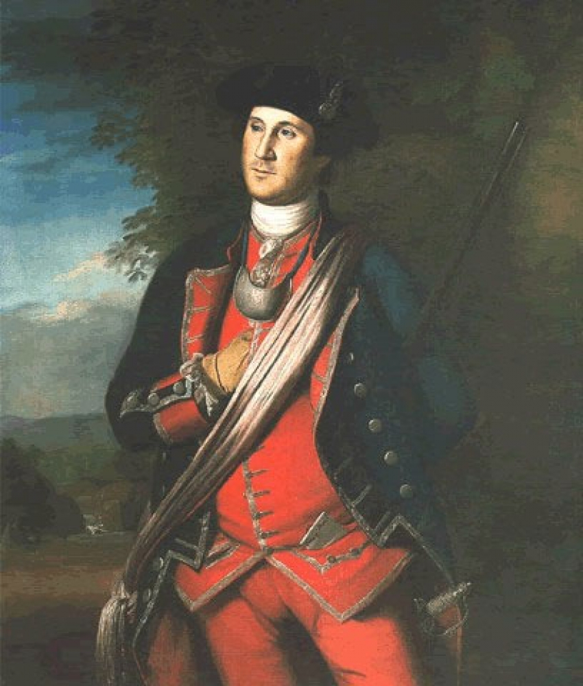 The earliest known portrait of George Washington captures the look of a young man with ambition. The portrait was painted about 12 years after Washington's service in that war, and several years before he would reenter military service in the American Revolution.