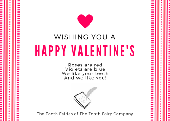 Tooth fairy Valentine's Day card