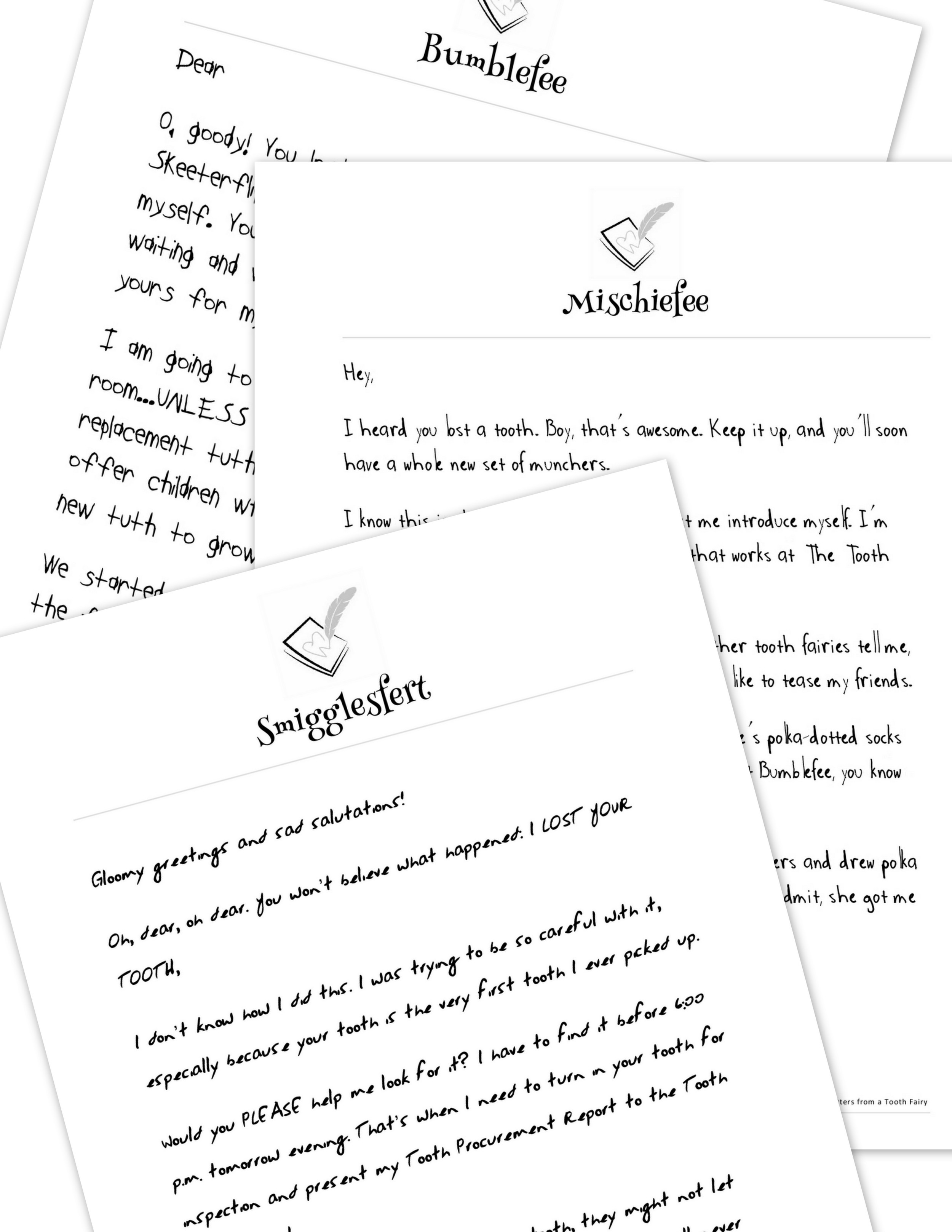 Printable tooth fairy letters that stretch the fun out for nights.