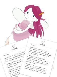 Printable tooth fairy letter bundle for two teeth losses from Tooth Fairy Bumblefee