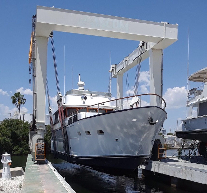 "78ft Pluckybaum ""Jade Princess"" HEading out for Sea trial"
