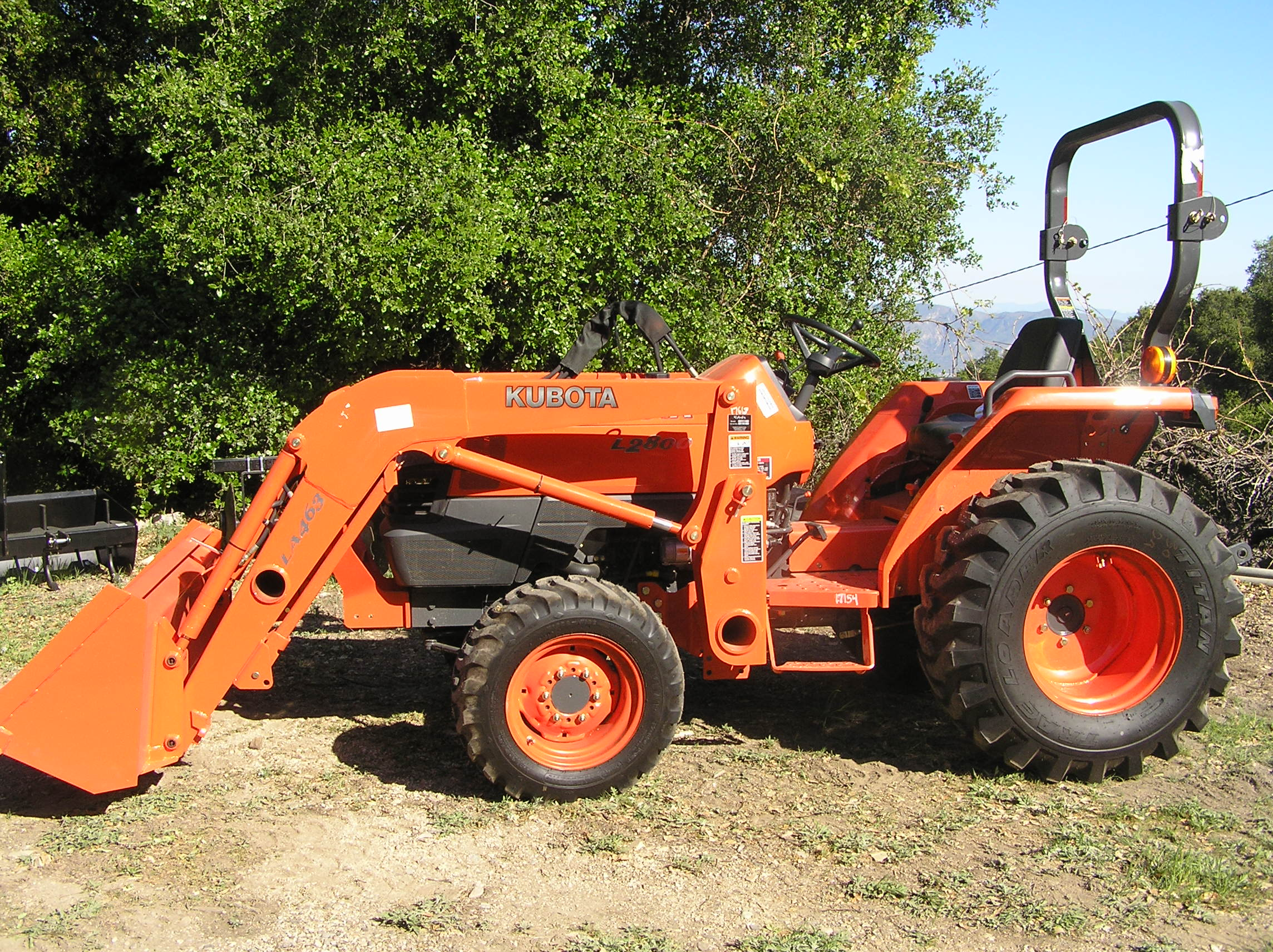 THE KUBOTA TRACTOR and its three major implements created the ability to do more in less time. (Ray Johnston photo, 2007.)
