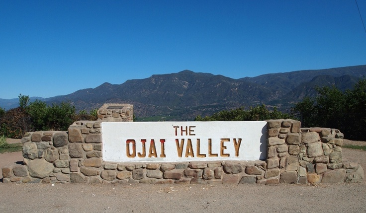 "THE OVERLOOK from the Upper Ojai Valley to the lower valley. This scenic view was the setting for ""Shangri-La"" in the 1937 film  Lost Horizon  directed by Frank Capra. (Photo: Margaret Magnus, 2013.)"