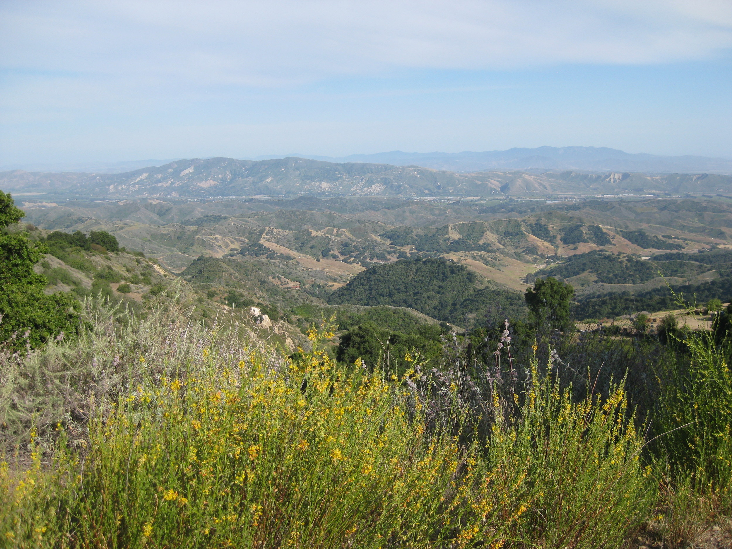 THE VIEW TOWARD SANTA PAULA and the Heritage Valley from Meher Mount. (Leslie Bridger photo, 2011.)