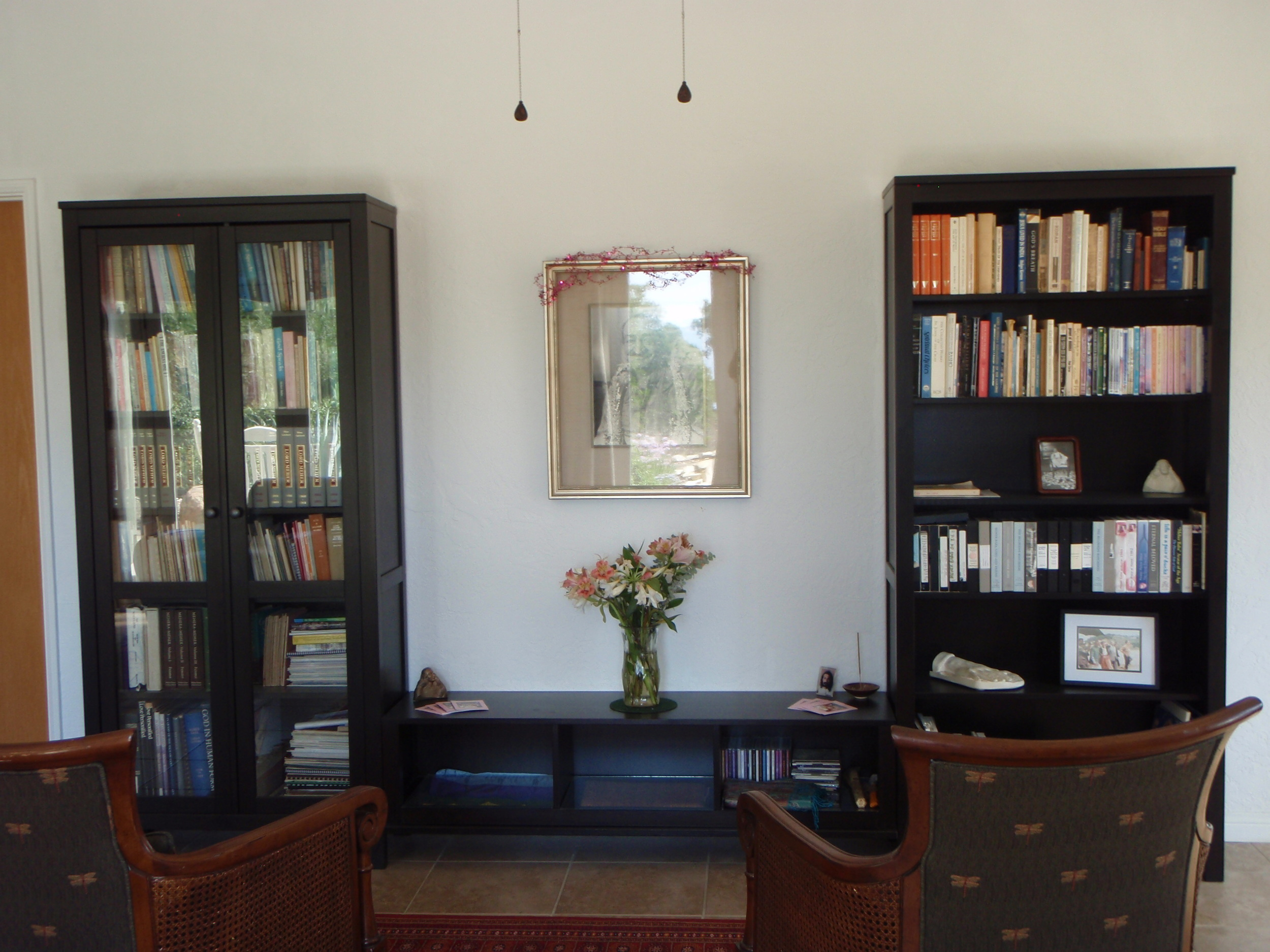THE MEHER MOUNT LIBRARY of books by and about Avatar Meher Baba and His Advent. (Margaret Magnus photo, 2014.)