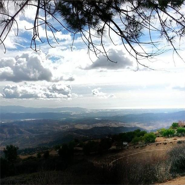 A VIEW FROM AVATAR'S POINT overlooking the Heritage Valley and Oxnard Plain and the Pacific Ocean. (Stephanie Ervin photo, January 2014.)
