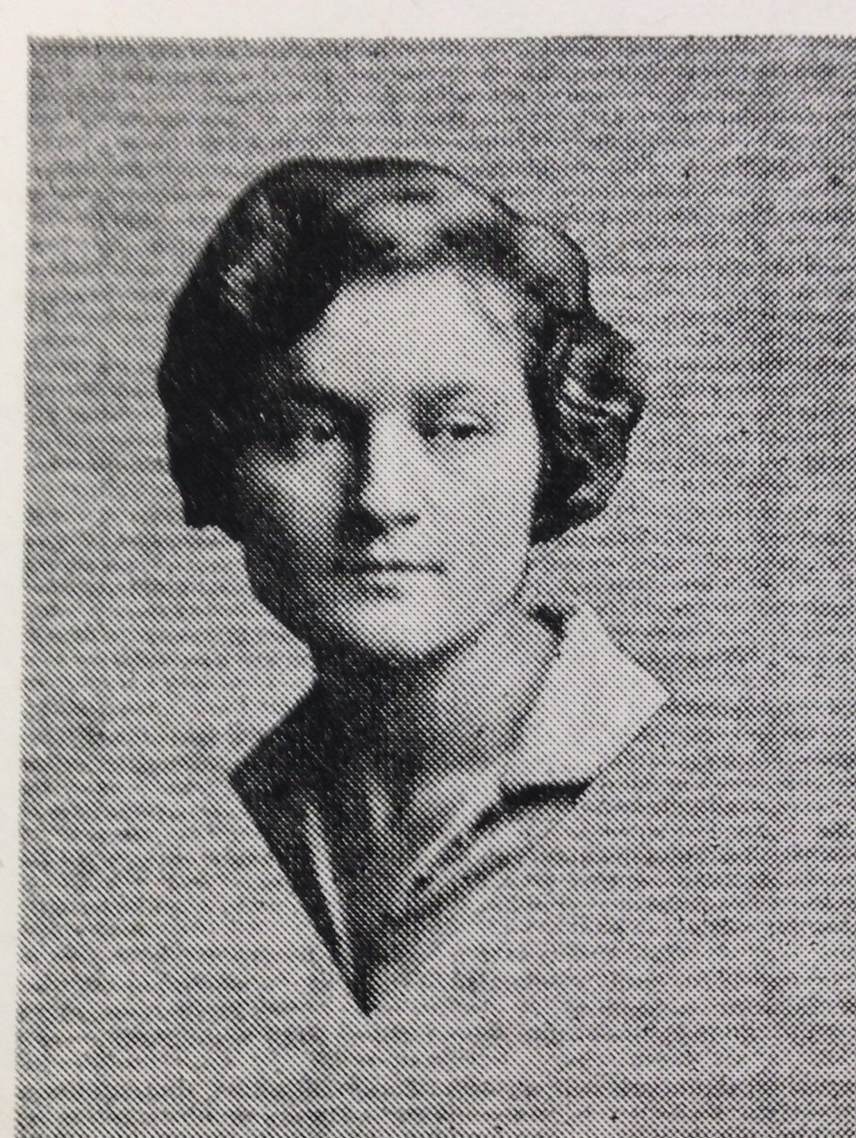 AGNES BARON in the 1928 Antioch College yearbook  Towers . She was on the crew for three different plays when she was a student. (Antioch College photo.)