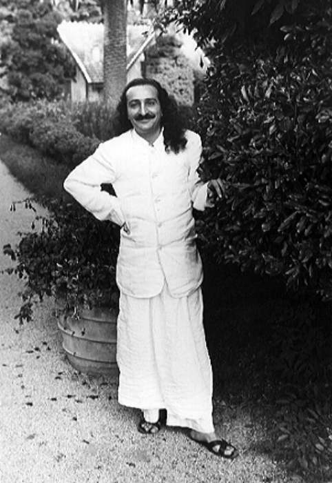 AVATAR MEHER BABA in Cannes, France, in 1937, traveling with His Eastern and Western disciples.
