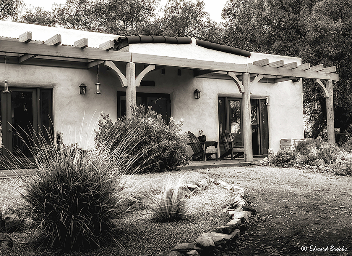 THE VISITOR CENTER entrance at Meher Mount in Ojai, CA. (c) Edward Brooks, 2016.