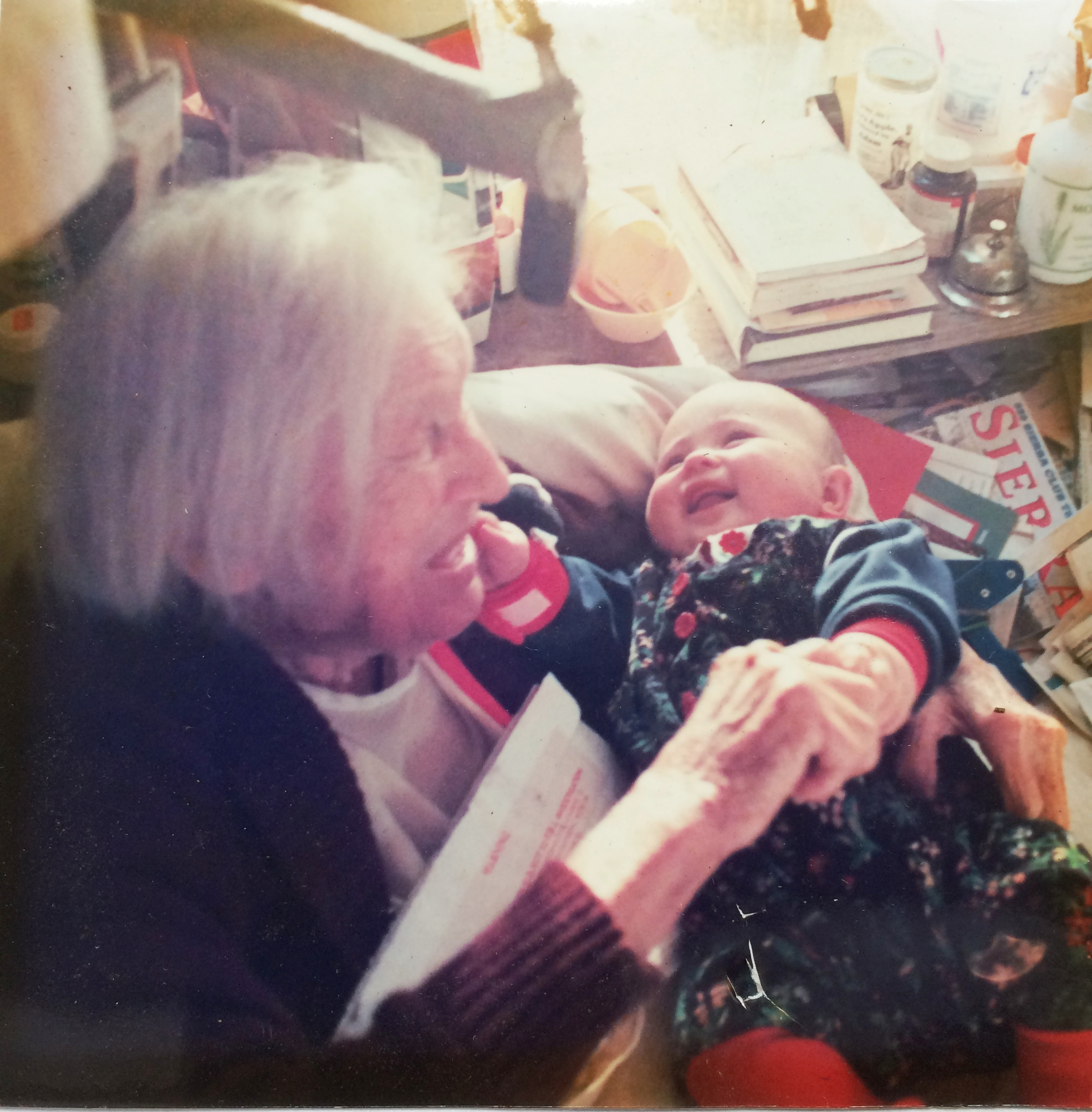 AGNES BARON with Meira Heckman, the author's daughter, at Meher Mount. (Photo: Heckman Family.)
