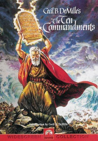 THE TEN COMMANDMENTS , directed by Cecil B. DeMille and starring Charlton Heston as Moses, was released October 5, 1956, and won the Academy Award for Best Picture in 1957. (Source: Wikipedia)