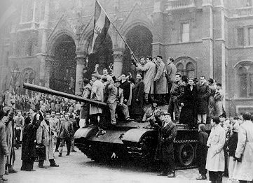 THE HUNGARIAN REVOLUTION, lasting from October 23-November 10, 1956, was a revolt against Soviet-imposed policies. (Source: Marxsite)