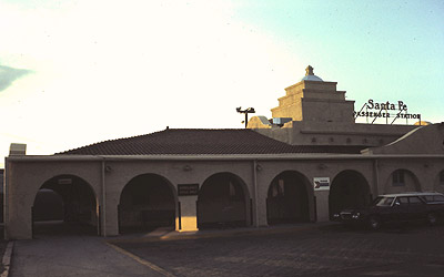 TRAIN STATION in Albuquerque, New Mexico, before it was destroyed by fire in 1993. The account of Meher Baba meeting with the Indian agent in Albuquerque was included in Jean Adriel's book  Avatar , which Agnes Baron helped edit. (Photo:  TrainWeb , 1972.)