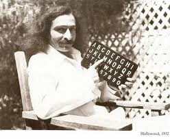 AVATAR MEHER BABA using the alphabet board to communicate with His followers.
