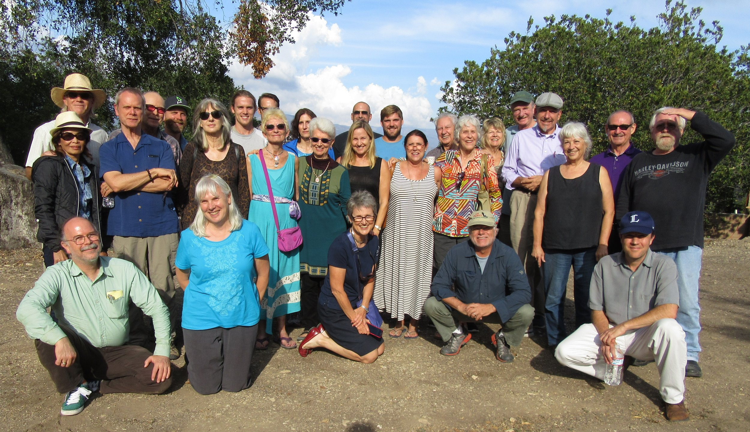 THE GROUP at Bill Le Page's talk at Meher Mount in 2015.