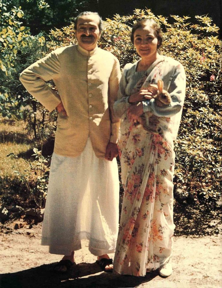 AVATAR MEHER BABA and His closest woman disciple, Mehera J. Irani, at the Meher Spiritual Center in 1952.