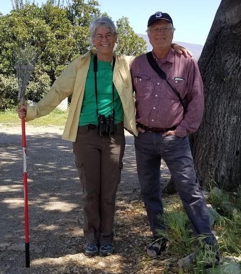 KRISTINA SOMMA & ROBERT TURNAGE helping out at Meher Mount for 12 days in April 2018. (Photo: Margaret Magnus)